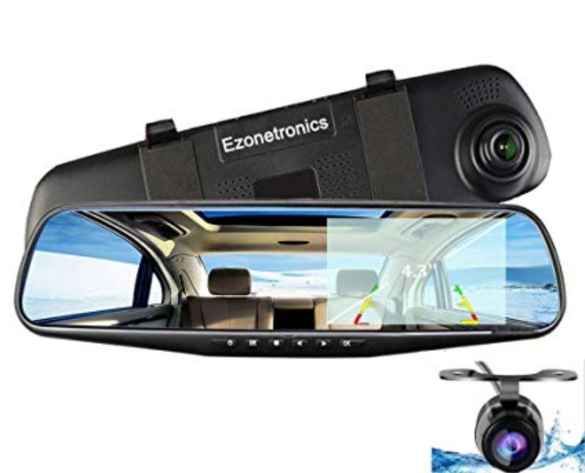 Ezonetronics Car Camera | Car Video Recorder Full HD 1080P | Car Video Camera 4.3 Inch LCD with Dual Lens for Vehicles Front & Rearview Mirror | DVR Vehicles Dash Cam Review