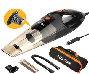 HOTOR Car Vacuum Cleaner with LED Light, DC12-Volt Wet/Dry Portable Handheld Auto Vacuum Cleaner for Car Review
