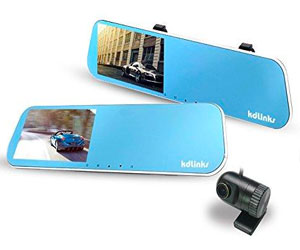 KDLINKS R100 Ultra HD 1296P Front + 1080P Rear 280° Wide Angle Anti-Glare Rearview Mirror Dual Lens Dash Cam Review