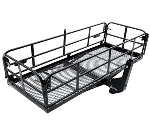 Merax Foldable Hitch Cargo Carrier Mounted Basket Luggage Rack with 2 Receiver Review