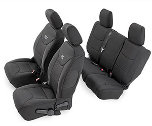 Rough Country Black Neoprene Seat Cover Set (Front & Rear) for Jeep Wrangler Review