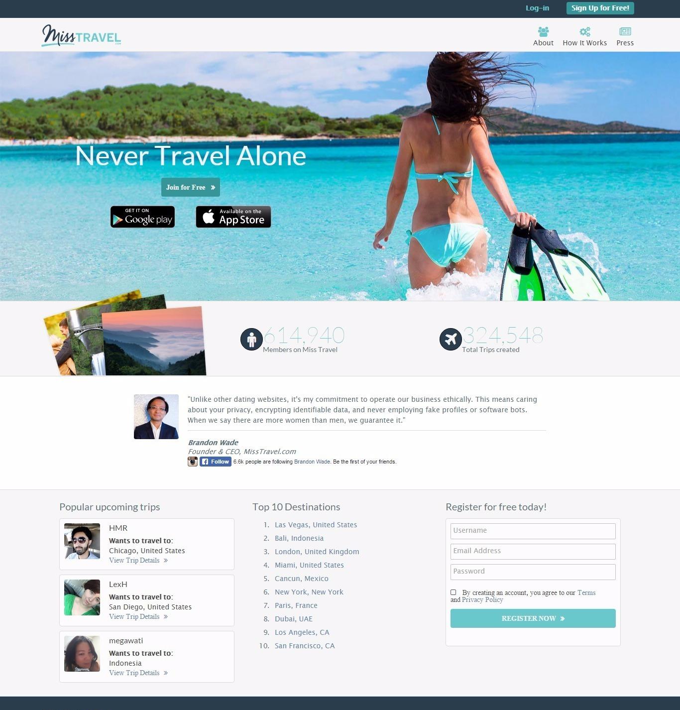 Miss travel profiles
