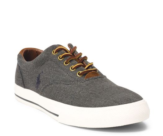 Ralph Lauren Vaughn Canvas Sneakers - by RALPH LAUREN