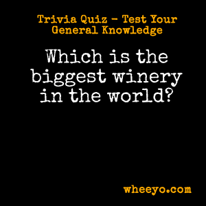Wine Trivia Questions_Biggest Winery in the World