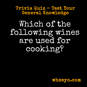 Wine Trivia Questions_For Cooking