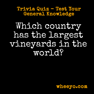 Wine Trivia Questions_Largest Vineyards in the World