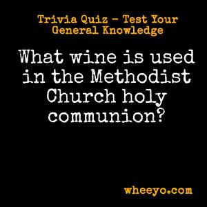 Wine Trivia Questions_Methodist Church