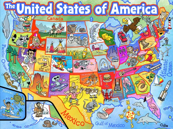USA Map Jigsaw Puzzle Planet Urf Entertainment - Texas map puzzle