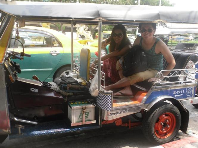 tuktuk ride in Bangkok