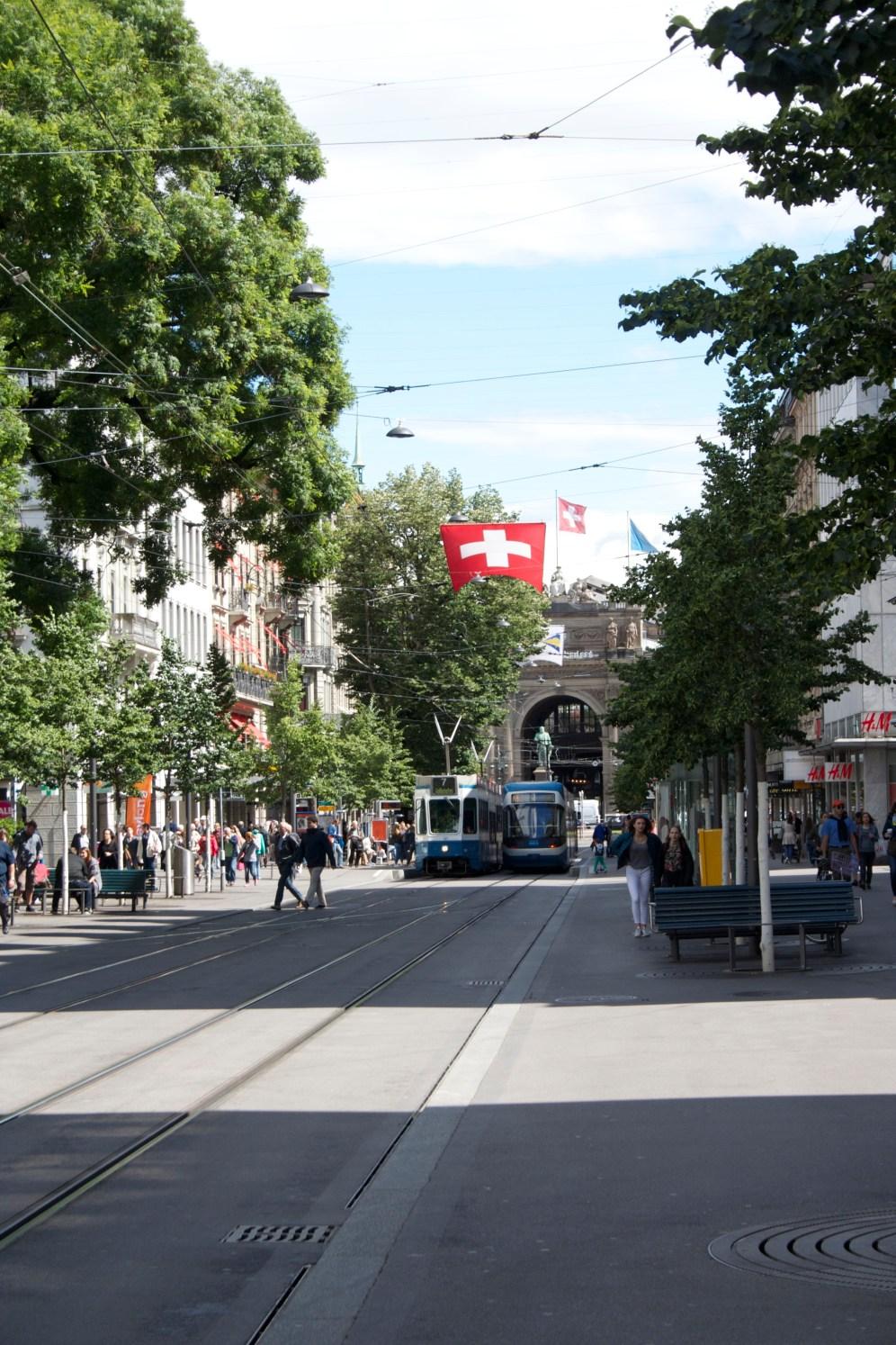 Street cars in Zurich