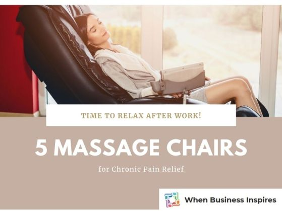 Massage chairs for chronic pain relief