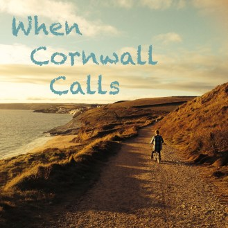 Cornwall, coast, bike, girl, beach, path, nature, Porthleven, harbour, fields, sunset, bicycle, village, clouds, sky, logo, blog
