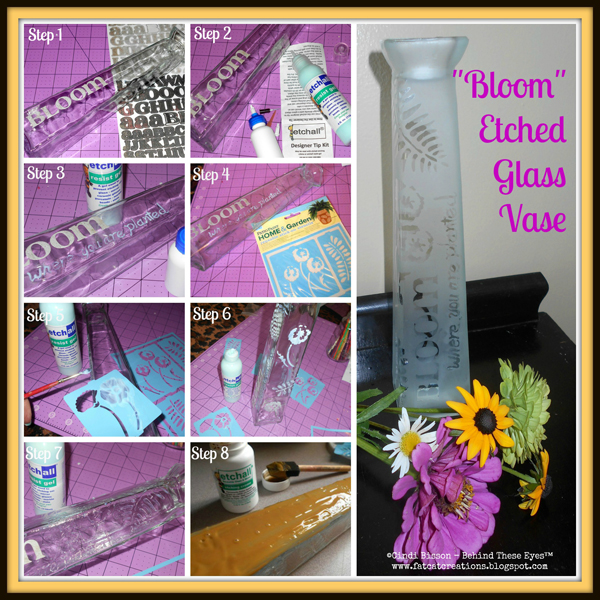 Bloom Etched Glass Vase