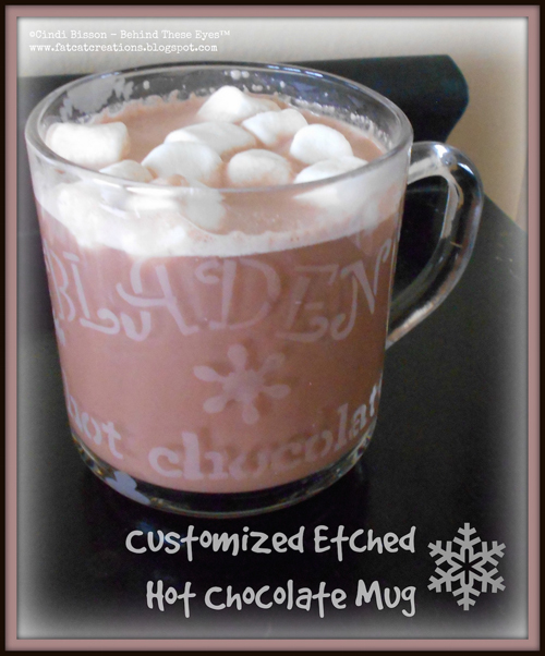 Customized Etched Hot Chocolate Mug