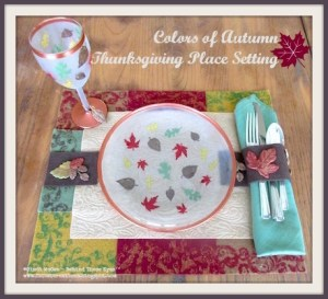 Colors of Autumn Thanksgiving Place Setting
