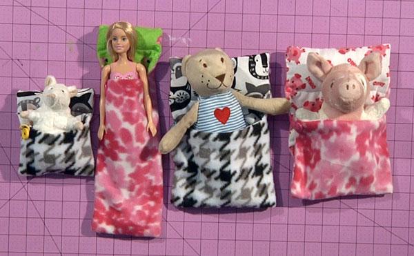 Stuffed Animal and Doll Sleeping Bags
