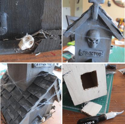 Haunted Mausoleum Birdhouse