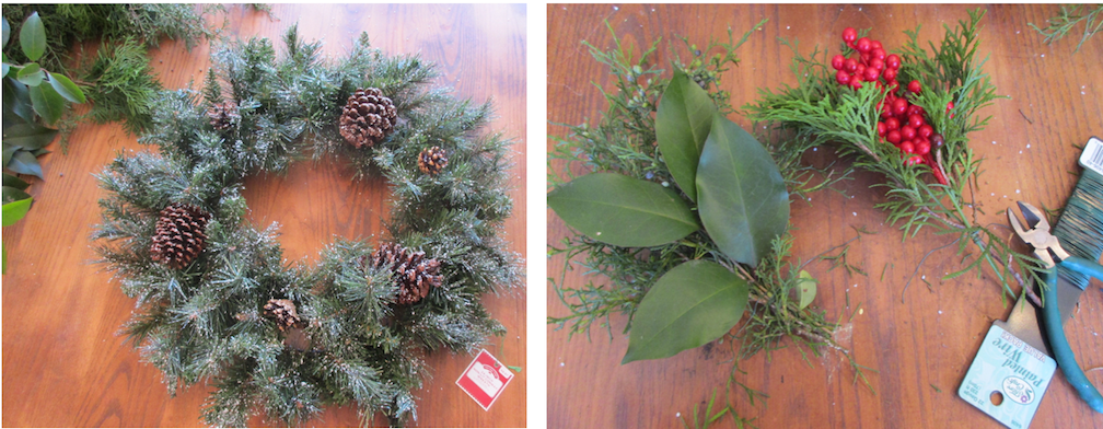 Evergreen wreath on a budget HOW 1