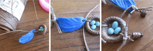 Bluebird's Nest Bracelet How 3