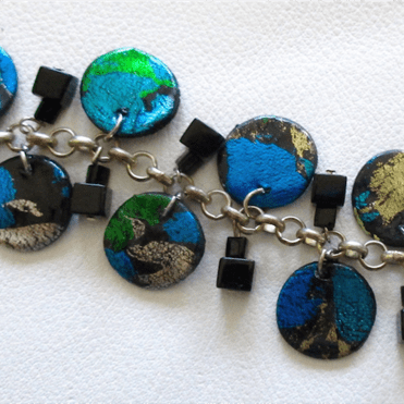 Foiled Disc Bracelet