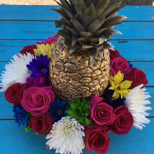 Golden Pineapple Floral Centerpiece