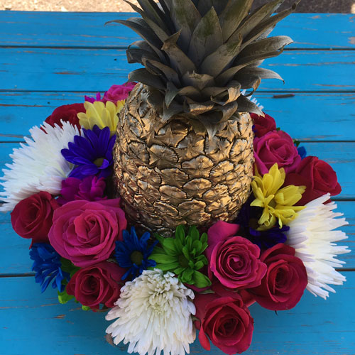 Golden Pineapple Floral Centerpiece