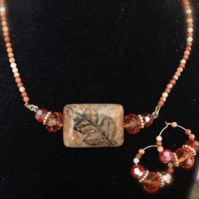 colors of autumn jewelry set