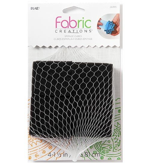 Plaid Fabric Creations Sponge Cubes