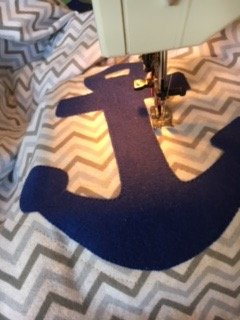 Anchors Away Baby Blanket 17