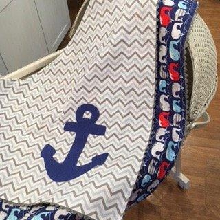 Anchors Away Baby Blanket Hero 1