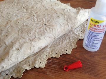 Tea-dyed Linen Pillowcase 5