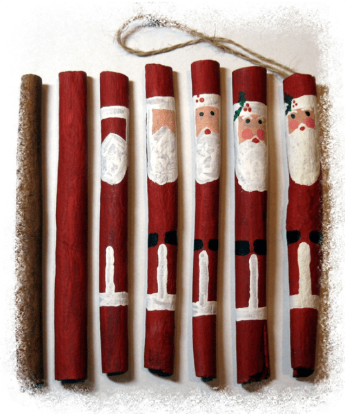 Cinnamon Stick Santas How 2