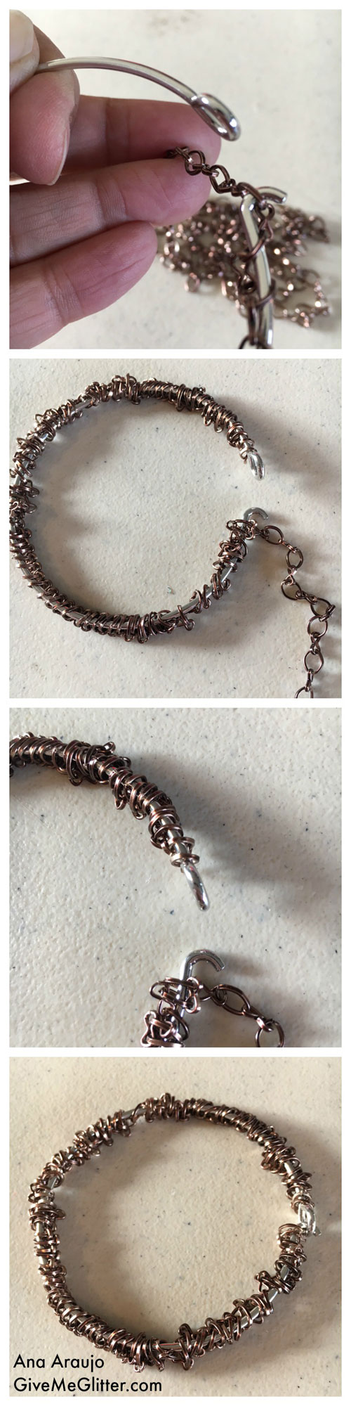 Penny Bracelet Chain Weaving
