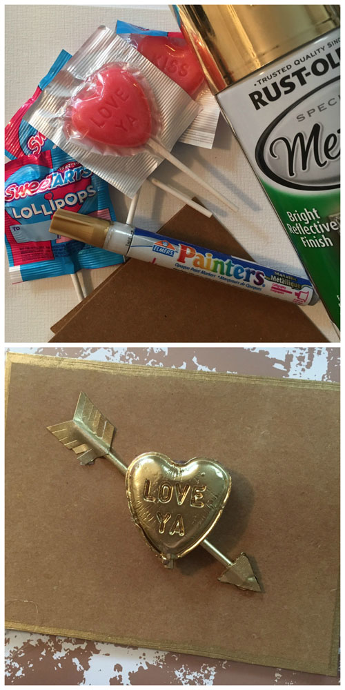 Lollipop Valentine Card Supplies
