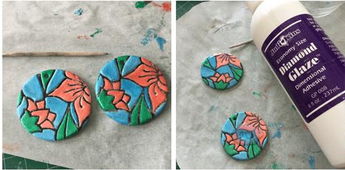 Floral Disc Earrings HOW 3