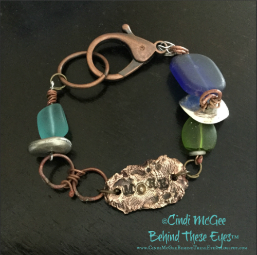 metal clay bracelet watermarked