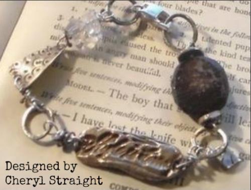 metal clay sample bracelet