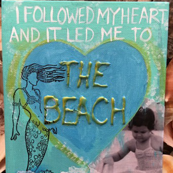 The Beach Mixed Media Artwork