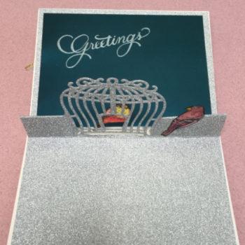 Pop-Up Birdcage Card