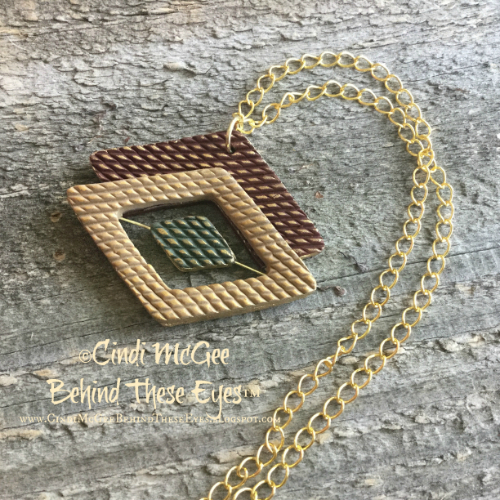 Diamond Pattern Pendant watermarked