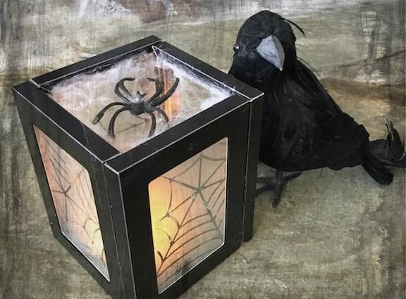 Etched Spiderweb Halloween Lantern