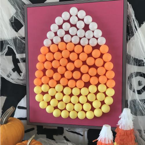Candy Corn Pingpong Ball Art