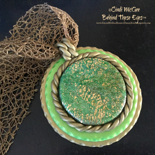 Green Crackle Pendant