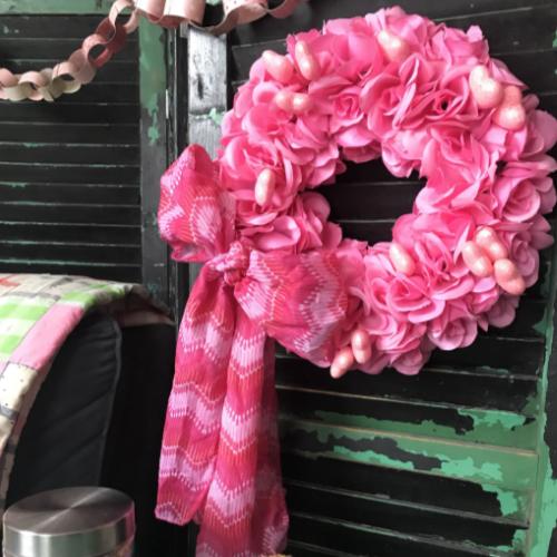 Dollar Store Valentine' Wreath
