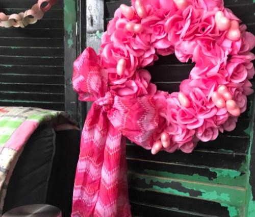 Dollar Store Valentine's Wreath