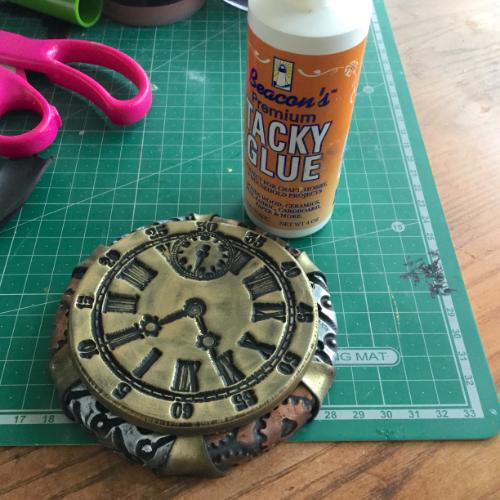 Steampunk Clock Face Votive HOW 9