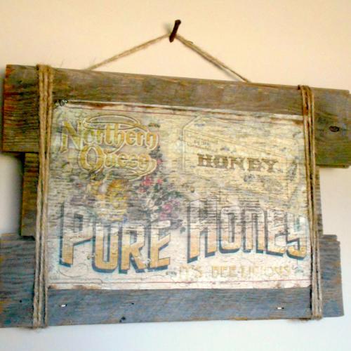 Faux Vintage Crate Sign
