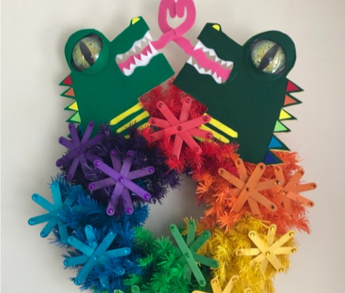 Alligators in Love Wreath