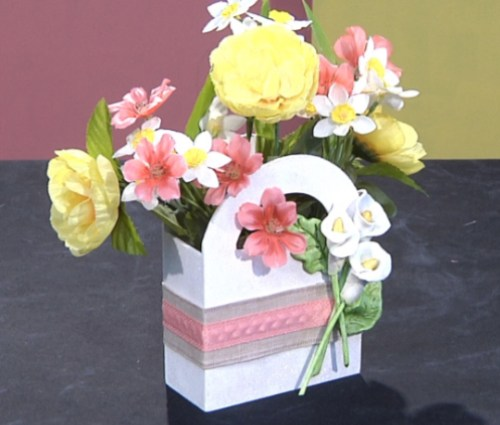 Embellished Floral Basket Centerpiece