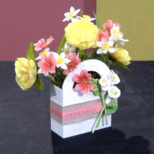 Embellished Floral Basket Centerpiece